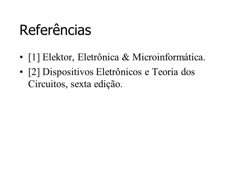 Referências [1] Elektor, Eletrônica & Microinformática.